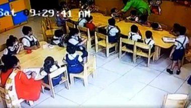 Gurgaon Teacher Tapes Mouth Of 2 kindergarten Students, Suspended; Watch Shameful Video