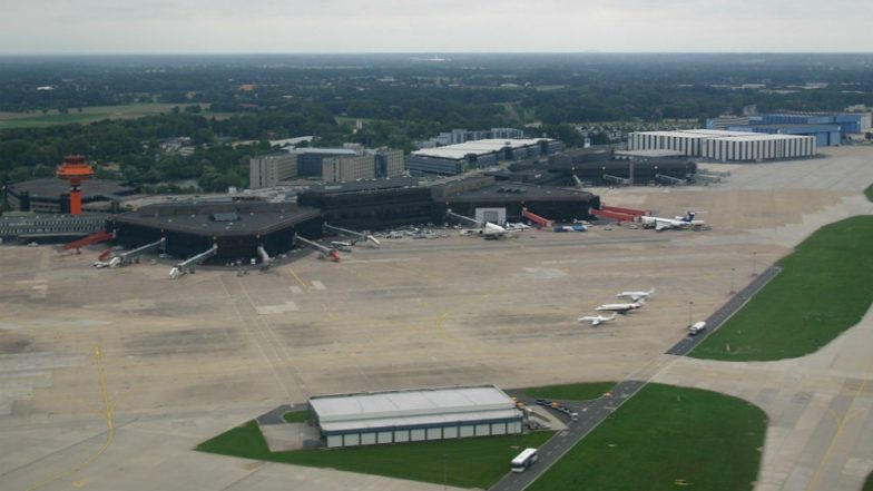 Flights suspended at Hanover airport after man drives vehicle onto runway