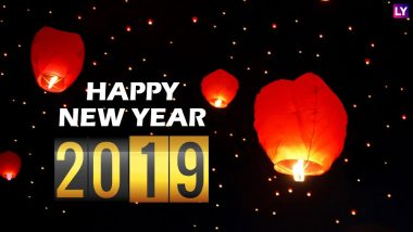 New Year 2019 Images & HD Wallpapers for Free Download Online: Wish Happy New Year 2019 With Beautiful GIF Greetings & WhatsApp Sticker Messages