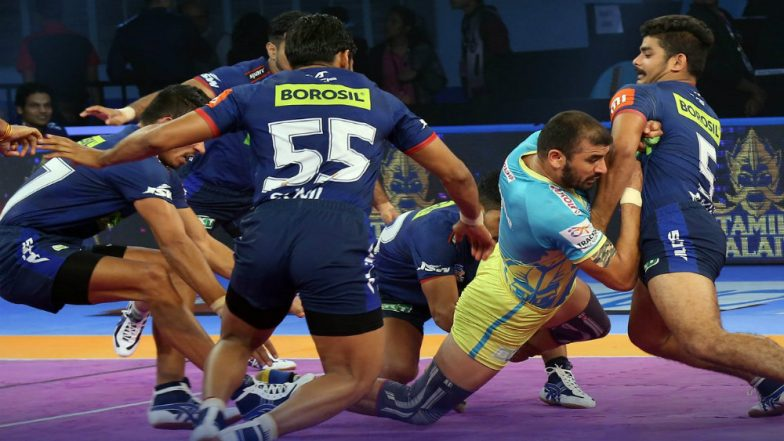 Haryana Steelers vs Tamil Thalaivas, PKL 2018-19 Match Highlights: Haryana Play Thrilling 40-40 Draw Against Thalaivas