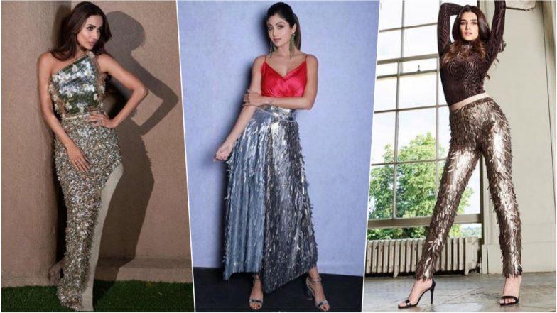 Christmas 2018 Fashion: Let Shilpa Shetty, Malaika Arora & Kriti Sanon Show You How to Rock Silver Metallic Fringe Outfits on X-Mas, See Pics
