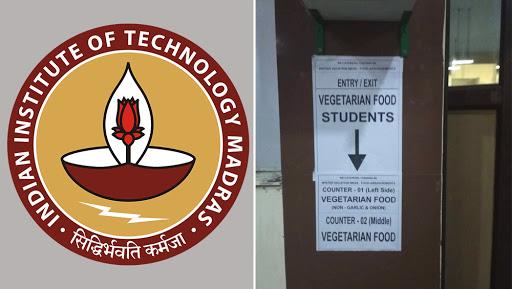 IIT Madras Mess Gets Separate Entry Gates, Utensils For Vegetarian and Non-Vegetarian Students; Row Over Move On Campus