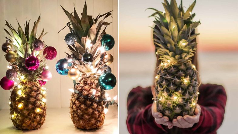 Christmas 2018: Decorated Pineapples Replace Christmas Trees This Holiday Season! (View Pics)