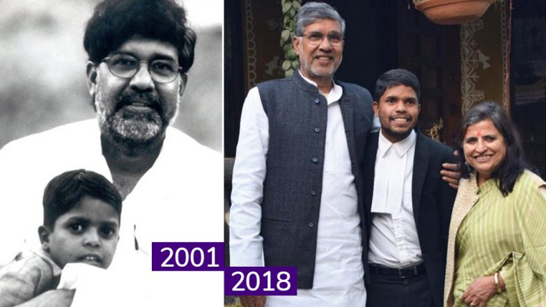 Kailash Satyarthi Shares Photo With 'Rescued' Son Amar Lal Who Is Now a Lawyer Fighting Case for a Rape Survivor!