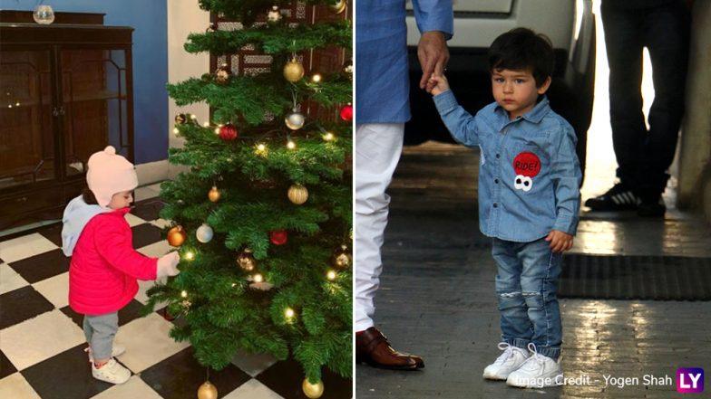 Taimur Ali Khan and Inaaya Naumi Kemmu Look Cute as They Celebrate Christmas 2019! (View Pics)