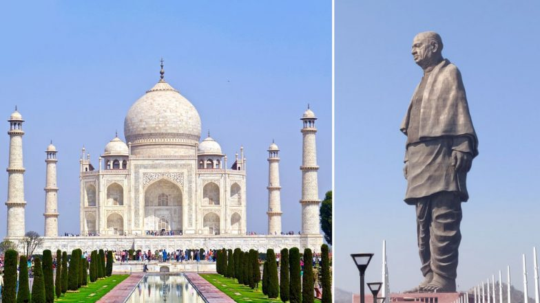 Flying Over Taj Mahal or Statue of Unity? Domestic Flights in India Will Now Make Announcements While Flying on Important Landmarks