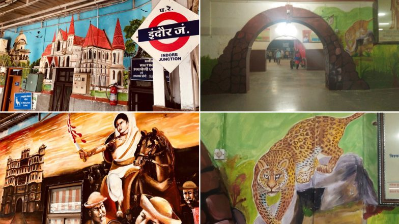 Indian Railways Beautification Drive: Ratlam, Ujjain and Indore Railway Stations Have Been Transformed With Beautiful Wall Paintings, View Pics