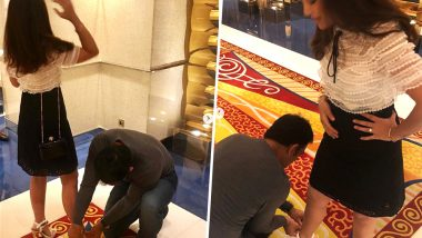 MS Dhoni Ties Wife Sakshi's Stilettos' Lace: Instagram Pictures Goes Viral!