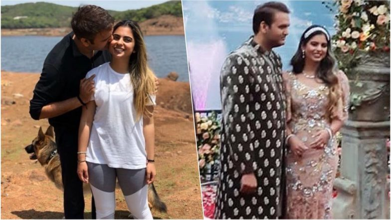 Isha Ambani-Anand Piramal Wedding: From the Dreamy Proposal to Sharing a Kiss on Their Sangeet, These Pics & Videos Are Proof that The Two Look Adorable Together