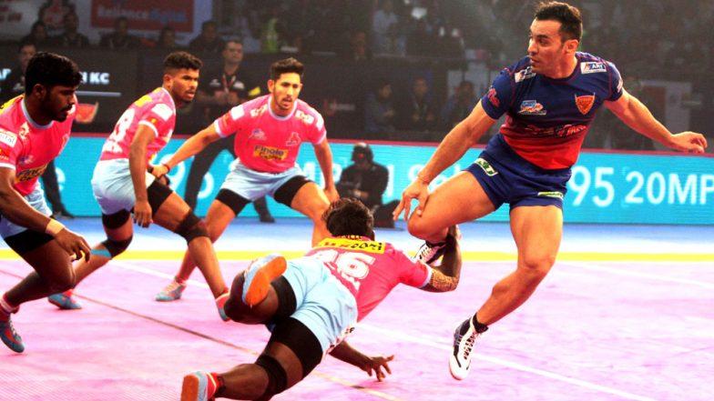 PKL 2018-19 Video Highlights: Delhi Dabang K.C. Play Thrilling Tie 37-37 Against Jaipur Pink Panthers