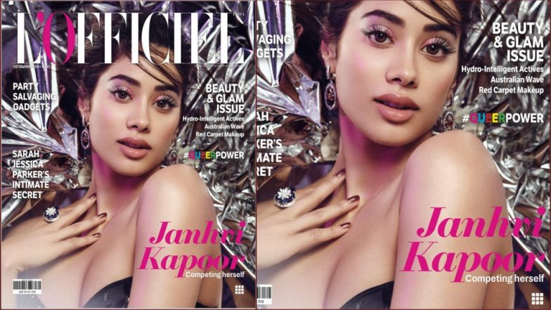 Janhvi Kapoor Looks Sexy As She Poses for The Magazine Cover of L'Officiel (View Pic Inside)