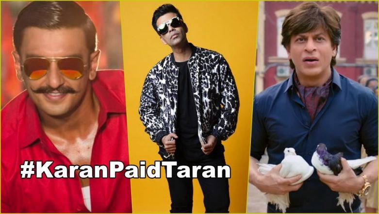 #KaranPaidTaran Trends As Twitterati Accuses Simmba Producer Karan Johar of Sabotaging Friend Shah Rukh Khan's Zero Film!