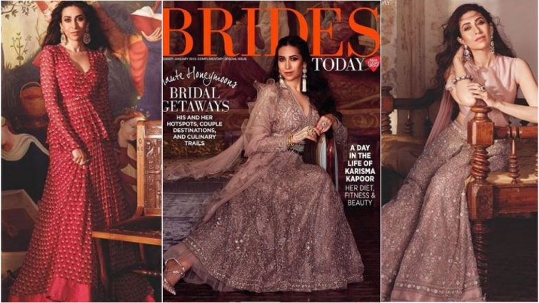 Karisma Kapoor Stuns in Riddhi Mehra Outfits on Cover of Brides Today December-January 2019 Issue – See Pics