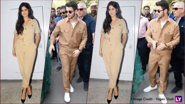 Katrina Kaif and Newly-Wed Nick Jonas Had a Major Twinning Moment in Similar Outfits, and We're Quite Amused (See Pics)