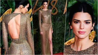 Kendall Jenner Sizzles in Naked Gold Julien MacDonald Gown at 2018 British Fashion Awards – See Sexy Pics