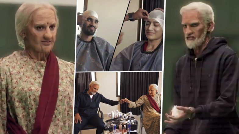 PBL 4: Kidambi Srikanth and Ashwini Ponnappa Do a Cristiano Ronaldo! Star Indian Shuttlers Disguise As Old Couple to Stun Kids at a Badminton Academy! (Watch Video)