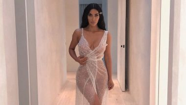 Kim Kardashian West Wears A Shimmery See-Through Piece Of Cloth And Man Does She Look Gorgeous - View Pic!