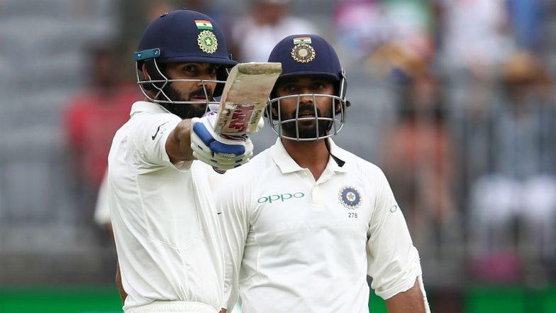 India vs Australia 2nd Test Day 2 Video Highlights: Virat Kohli, Ajinkya Rahane Propel Visitors to 172/3 After Poor Start