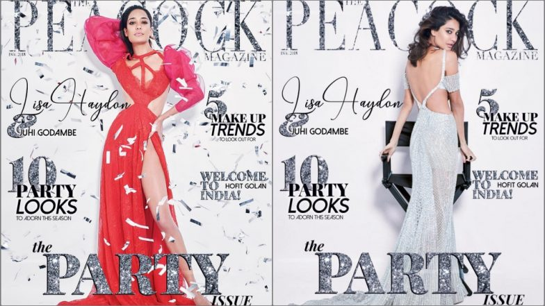 Lisa Haydon Sizzles in Risqué Falguni and Shane Peacock Couture for their New Year Party Issue, See Pics