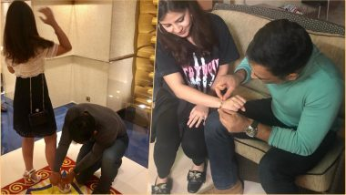 After Helping Sakshi Tie Shoelace, MS Dhoni is Now Fixing Wife's Bracelet - Did Online Trolls Force the Couple to Post New Photos?
