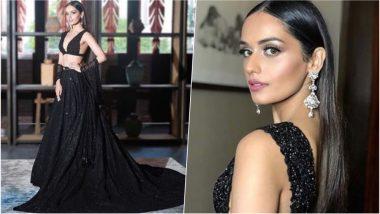 Miss World 2018: Manushi Chhillar Scintillates in Black Sabyasachi Lehenga for the Crowning Ceremony at Sanya, China, View Pics