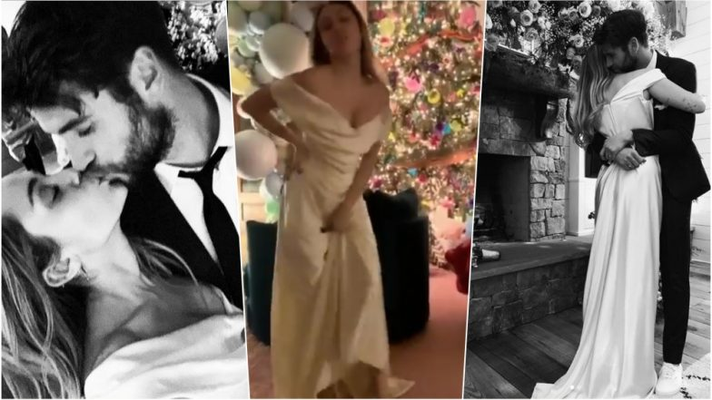 Miley Cyrus Keeps it Classy in Ivory Vivienne Westwood Gown for Her Secret Wedding with Liam Hemsworth, See Pics