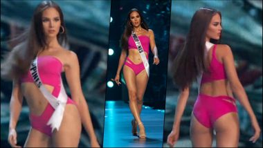 Miss Philippines Catriona Gray Bewitches Netizens With Her Slow-Mo Twirl in Miss Universe 2018 Swimsuit Round (Watch Video)