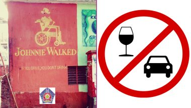 Don't Drink and Drive! Mumbai Police Tweets a Creative Message With 'Johnnie Walked' Pic