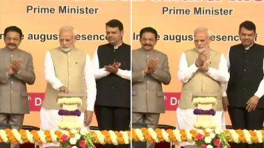 PM Narendra Modi Lays Foundation Stone For Two Metro Corridors in Thane