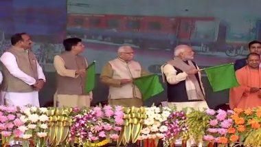 PM Narendra Modi Flags Off 900th Coach, Humsafar Rake of Modern Coach Factory in Rae Bareli
