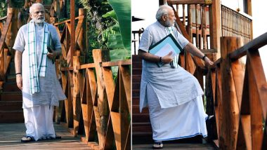 Narendra Modi's Traditional 'New Look' at Port Blair Ahead of Renaming Ceremony of Andaman Islands Goes Viral