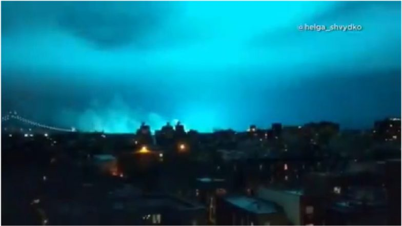 Mysterious Videos of Blue Light Flashing in New York City Skyline Sparks Aliens and UFO Theories! NYPD Reveals the Real Reason
