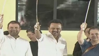 MK Stalin Greets 'Mother' Sonia Gandhi for Being Elected As CPP Leader, Says No Power Can Remove Congress From People's Heart