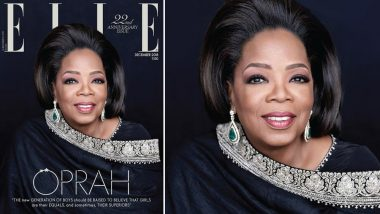 In a First, Oprah Winfrey in Sabyasachi Outfit, Turns Cover Star for Elle India Magazine's December 2018 Issue (See Pic)