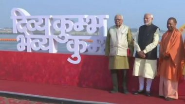 Kumbh Mela 2019: PM Narendra Modi in Prayagraj to Inaugurate Govt Programmes Worth Rs 4048 Crore, Offers Prayers at Sangam Ghat