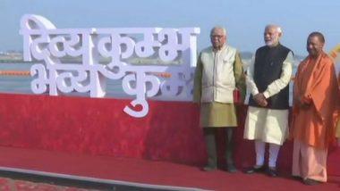 Kumbh Mela 2019: Narendra Modi Inaugurates Command and Control Centre, Performs Ganga Pujan