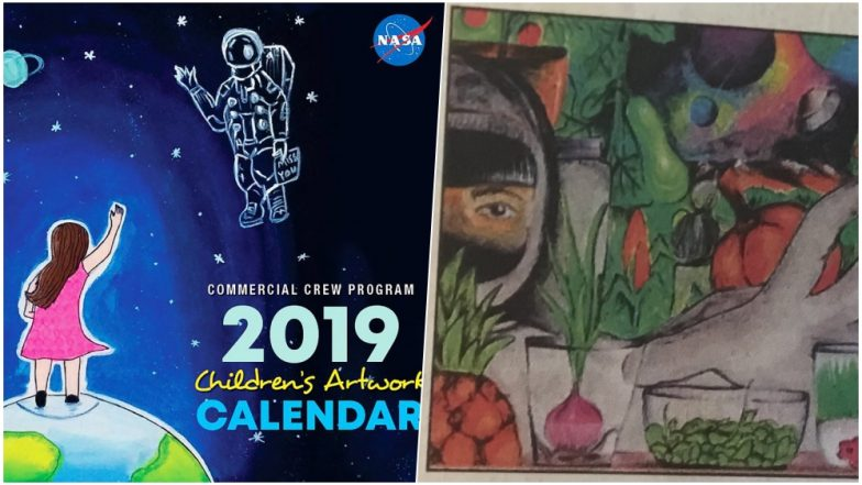 NASA 2019 New Year Calendar Will Feature a Painting of 12-Year-Old Boy From Tamil Nadu, View Pic