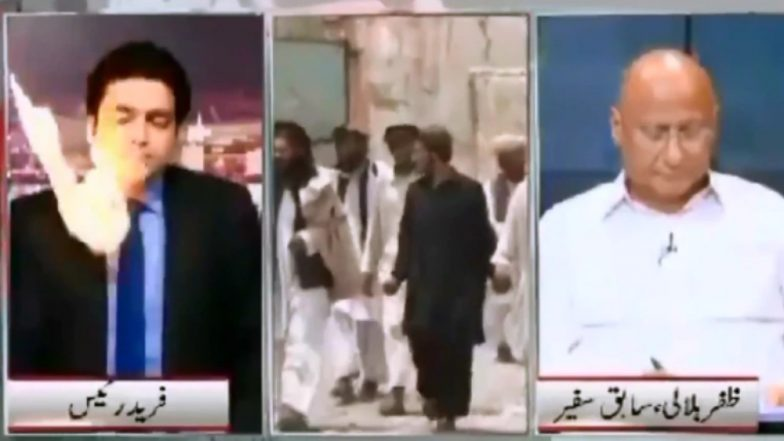 Pakistani News Anchor Hit by Ball of Fire on Live TV, Video Goes Viral