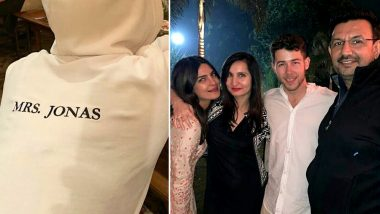 Priyanka Chopra's 'Mrs Jonas' Hoodie Will Make Husband Nick Jonas Blush! (View Pics)