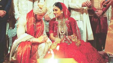 Priyanka Chopra and Nick Jonas Taking 'Pheras' in Hindu Wedding Ceremony is Simply Beautiful! (View Inside Pics)