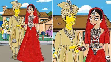 Priyanka Chopra- Nick Jonas Indian Wedding Gets Caricatured Into The Simpsons' Characters, View Pic