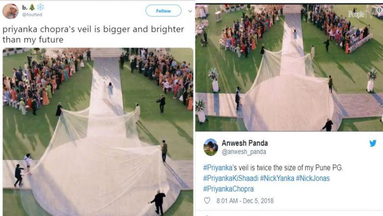 Priyanka Chopra-Nick Jonas Wedding: PC's 75-Ft Long Veil Inspires Hilarious Memes on Twitter