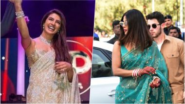 Priyanka Chopra in Sexy Sarees by Sabyasachi and Abu Jani Sandeep Khosla for Her Wedding Festivities is a Must See