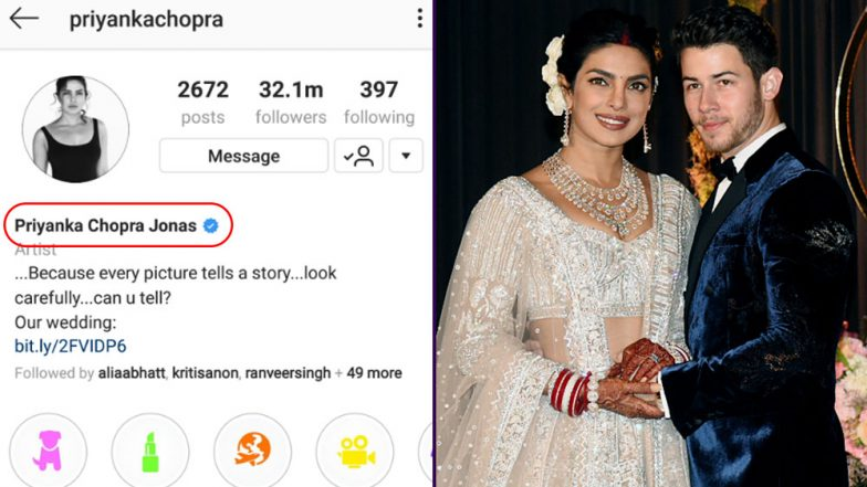 Meet Priyanka Chopra Jonas! Actress Changes Name Officially On Instagram After Her Wedding With Nick Jonas
