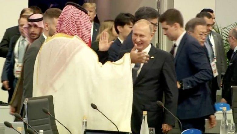 Vladimir Putin, Saudi Crown Prince Salman's 'High Five' at G20 Summit Goes Viral, Leaves Pro-Khashoggi Voices Fuming