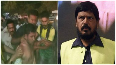 RPI(A) Chief Ramdas Athawale Slapped by His Own Party Worker During an Event