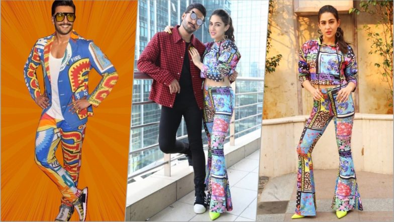 Sara Ali Khan Is Taking Style Inspiration From Ranveer Singh, Dons Printed Suit for Simmba Movie Promotions (See Pics)