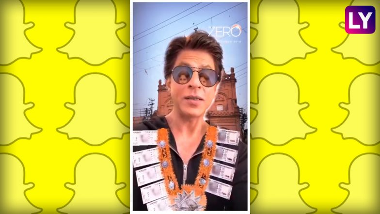 Zero Becomes India's First Movie to Launch Snapchat Lens! Its Lights, Camera, Snap for SRK-Starrer
