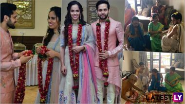 Saina Nehwal and P Kashyap Wedding Pics: See 14 Photos of Husband and Wife From Intimate Marriage Ceremony Day!