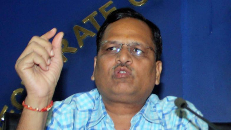 Satyendra Jain Disproportionate Assets Case: CBI Files Chargesheet Against Delhi Minister in Patiala House Court